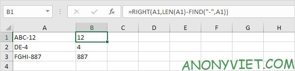 Bài 153: Cách xử lý chuỗi con trong Excel 49