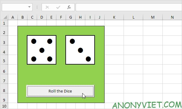 Bài 116: Cách tạo xúc xắc trong Excel