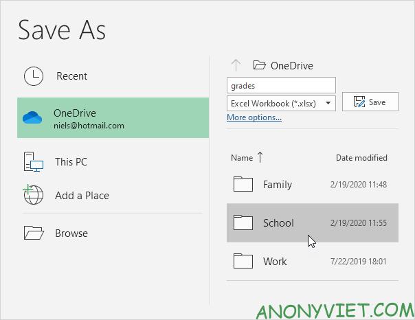 Bài 93: Cách lưu file Excel vào Onedrive 26