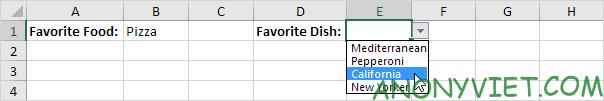 Bài 70: Cách tạo Menu xổ xuống trong Excel 115