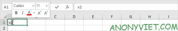 Bài 50: Cách thêm chỉ số trên và chỉ số dưới trong Excel