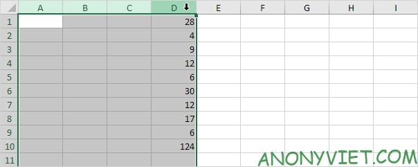 Bài 128: Cách thêm cột trong Excel 56