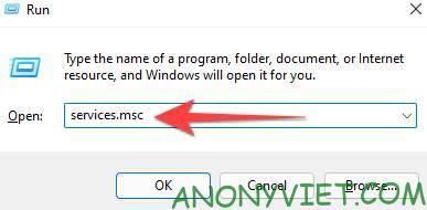"""Nhập """"services.msc"""" và nhấn Enter để mở windows services"""