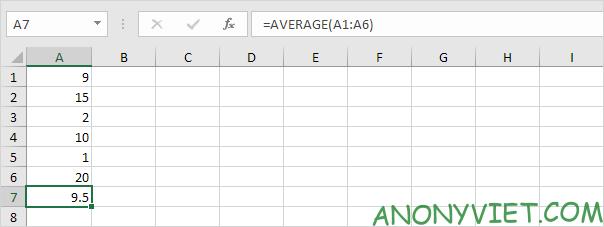 Bài 177: Cách sử dụng hàm AVERAGE trong Excel 51