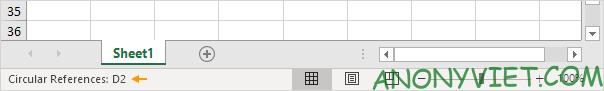 Bài 197: Tham chiếu vòng tròn trong Excel 84