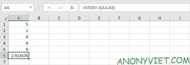 Bài 188: Cách sử dụng hàm STDEV trong Excel 77