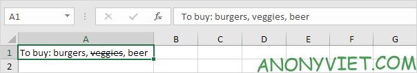 Bài 49: Cách Gạch ngang các chữ trong Excel 42