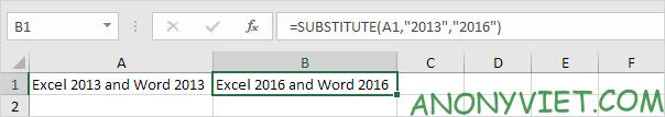 Bài 150: Hàm Substitute và Replace trong Excel