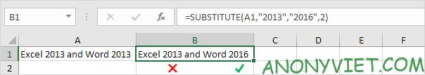 Bài 150: Hàm Substitute và Replace trong Excel 40