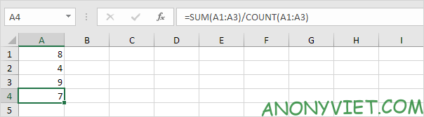 Bài 177: Cách sử dụng hàm AVERAGE trong Excel 46