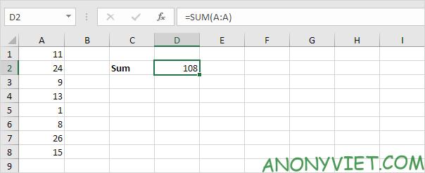Bài 109: Cách sử dụng hàm SUM trong Excel 40