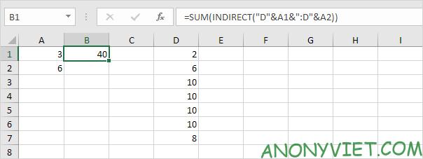 Bài 162: Cách sử dụng hàm INDIRECT trong Excel 46