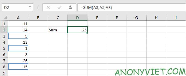 Bài 109: Cách sử dụng hàm SUM trong Excel 42