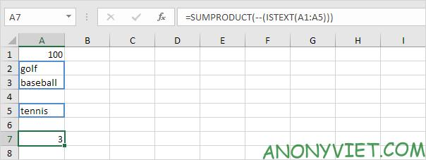 Bài 108: Cách đếm ô có chứa văn bản trong Excel 32