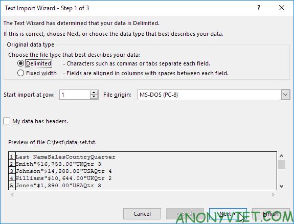 Bài 97: Cách nhập/xuất file văn bản trong Excel 38