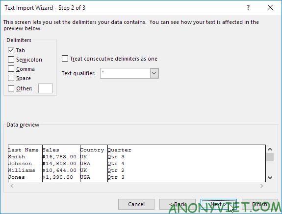 Bài 97: Cách nhập/xuất file văn bản trong Excel 39