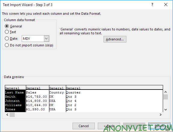 Bài 97: Cách nhập/xuất file văn bản trong Excel 40