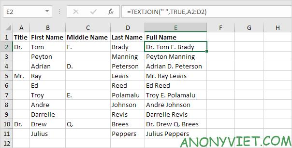 Bài 152: Cách sử dụng hàm Concatenate trong Excel 59
