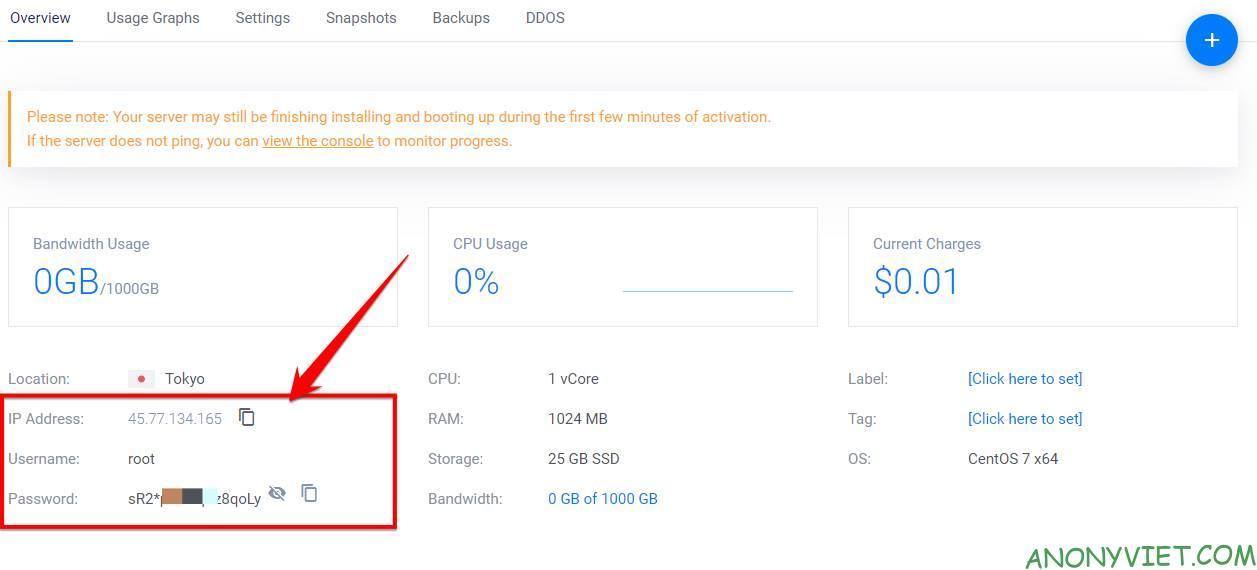 Cách sử dụng VPS Vultr cho người mới bắt đầu - Tặng 100$ Credit 9