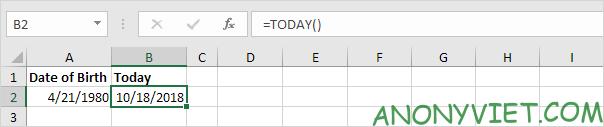 Bài 134: Cách tính tuổi trong Excel 28