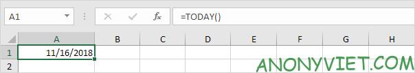 Bài 132: Cách sử dụng hàm TODAY trong Excel.