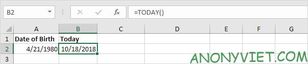 Bài 137: Tính ngày đến sinh nhật trong Excel 22