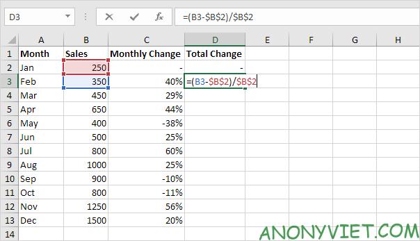 Bài 127: Cách sử dụng phần trăm trong Excel 34