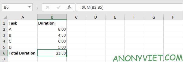 Bài 139: Cộng trừ thời gian trong Excel 64