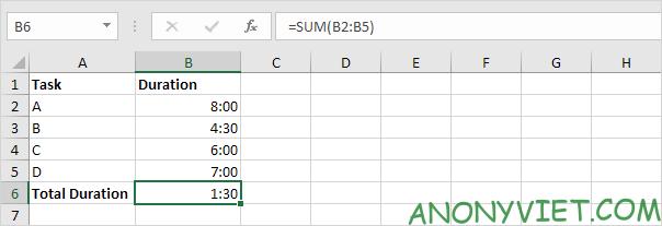 Bài 139: Cộng trừ thời gian trong Excel 65