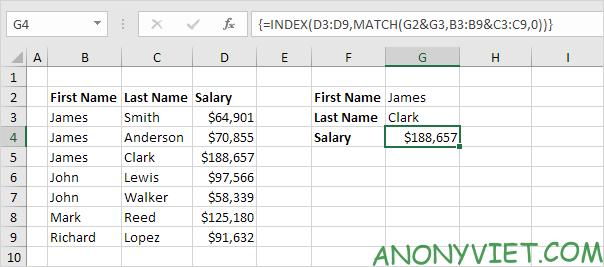 Bài 156: Cách sử dụng Index và Match trong Excel 39