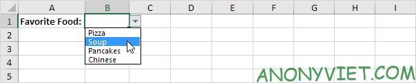 Bài 70: Cách tạo Menu xổ xuống trong Excel 105
