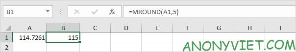 Bài 191: Làm tròn thành bội số trong Excel 26