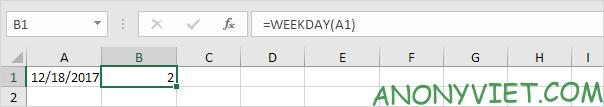 Bài 136: Cách sử dụng hàm Weekday trong Excel 40
