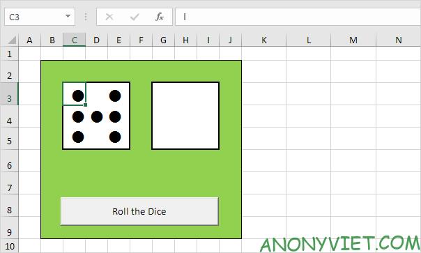 Bài 116: Cách tạo xúc xắc trong Excel 31