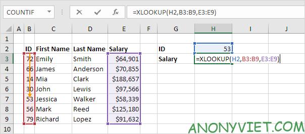 Bài166: Cách sử dụng hàm Xlookup trong Excel