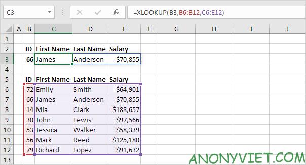 Bài 166: Cách sử dụng hàm Xlookup trong Excel 52