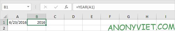 Bài 141: Tính ngày trong năm Excel