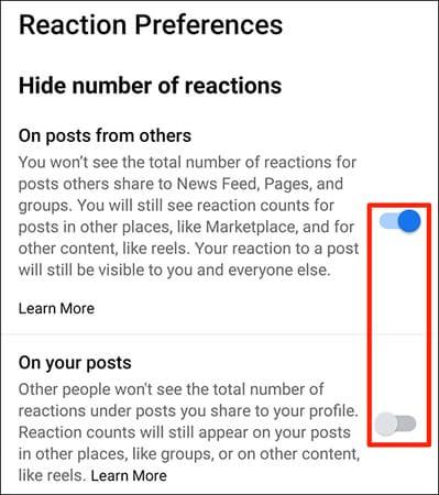 Cách ẩn lượt like trên Facebook 27