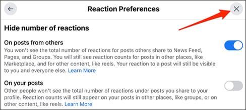 Cách ẩn lượt like trên Facebook 20