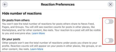 Cách ẩn lượt like trên Facebook 22