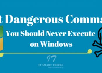 Các lệnh nguy hiểm nhất trên Windows bạn không nên dùng 9
