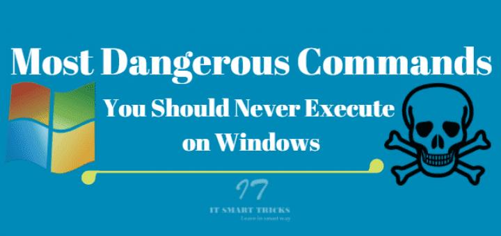 Các lệnh nguy hiểm nhất mà người dùng Windows cần biết