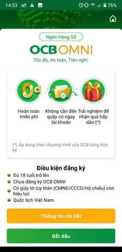 Cách nhận 100k miễn phí trên OCB OMNI 51