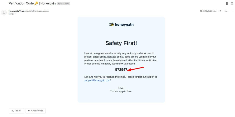 Cách rút tiền trên Honeygain 47
