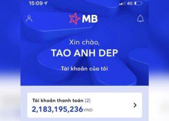 Hướng dẫn chế ảnh số dư tài khoản MB Bank 5