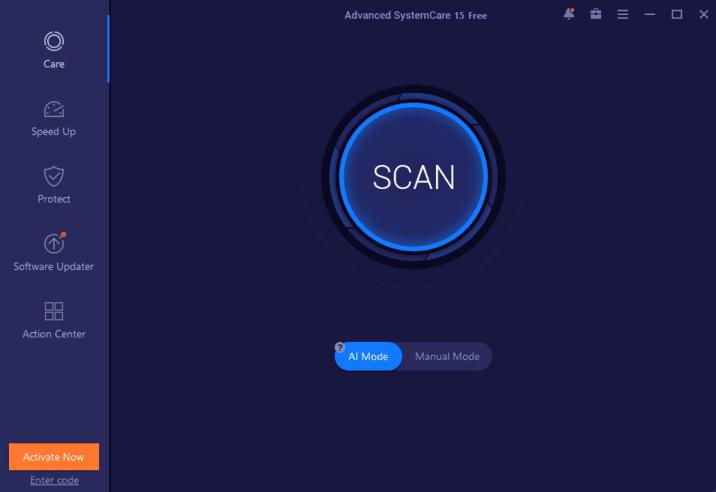 Main Screen Advanced SystemCare 15 Pro Full Key