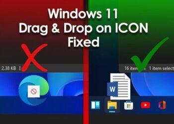 Windows 11 Drag & Drop to the Taskbar