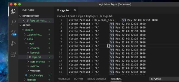File log argus