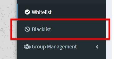 Thêm vào Blacklist